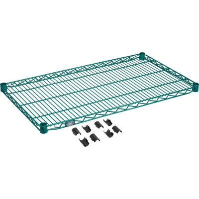 """Nexel® S2136G Poly-Green® Epoxy Wire Shelf 36""""W x 21""""D"""