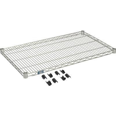 """Nexel® S2136Z Poly-Z-Brite® Wire Shelf 36""""W x 21""""D"""