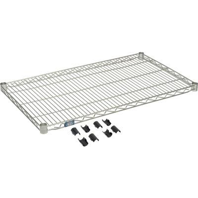 "Nexel® S2136Z Poly-Z-Brite® Wire Shelf 36""W x 21""D"