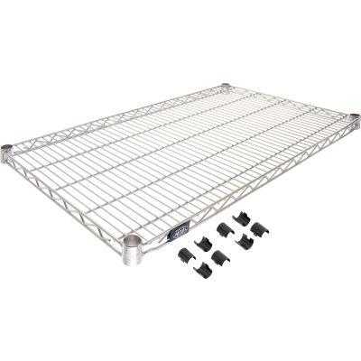 """Nexel® S2142C Chrome Wire Shelf 42""""W x 21""""D"""