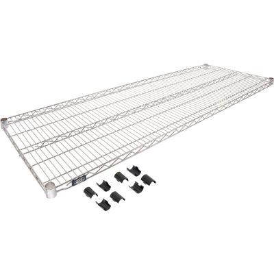 """Nexel® S2160C Chrome Wire Shelf 60""""W x 21""""D"""
