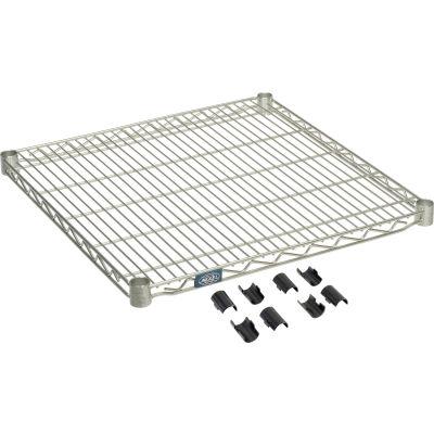 """Nexel® S2424Z Poly-Z-Brite® Wire Shelf 24""""W x 24""""D"""