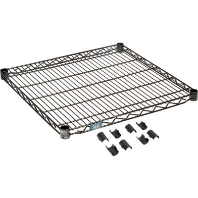 "Nexel® S2430B Black Epoxy Wire Shelf 30""W x 24""D"