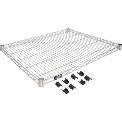 """Nexel® S2430C Chrome Wire Shelf 30""""W x 24""""D"""