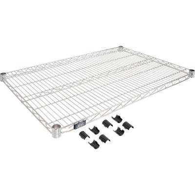 """Nexel® S2442C Chrome Wire Shelf 42""""W x 24""""D"""