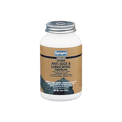 Sprayon LU620 Anti-Seize Compound, 8 oz. Brush Top Canister - s62008000 - Pkg Qty 12