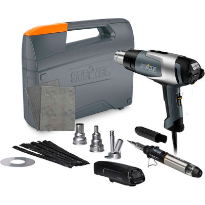 Steinel HG 2320 E Professional Heat Gun w/ Deluxe Plastic Welding Kit w/Temp Scanner