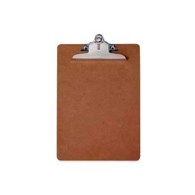 """Saunders Recycled Hardboard Clipboard, Letter Size, 8-1/2"""" x 12"""", Brown"""