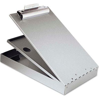 "Saunders Cruiser-Mate Aluminum Storage Clipboard, Top Opening, 8-1/2"" x 12"", Silver"