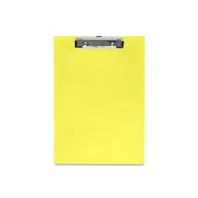 """Saunders Recycled Plastic Clipboard with Low Profile Clip, 8-1/2"""" x 12"""", Transparent Neon Yellow"""