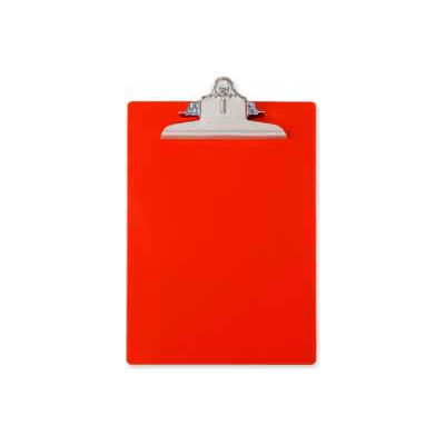 """Saunders Recycled Plastic Clipboard with Antimicrobial Protection, 8-1/2"""" x 12"""", Red"""