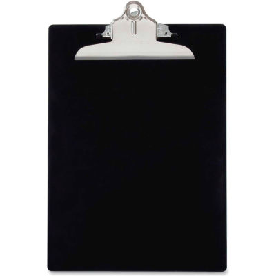 """Saunders Recycled Plastic Clipboard with Antimicrobial Protection, 8-1/2"""" x 12"""", Black"""