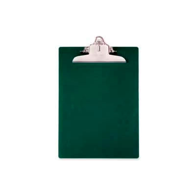 """Saunders Recycled Plastic Clipboard with Antimicrobial Protection, 8-1/2"""" x 12"""", Green"""