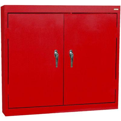 "Sandusky Solid Door Wall Cabinet WA22361230-01 - 36""W x 12""D x 30""H Red"