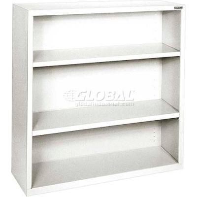 "Steel Bookcase 2-Shelf 46W X 18""D X 42""H -White"