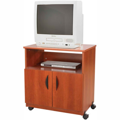 Safco® Products 1850CY Mobile Machine Stand, Cherry
