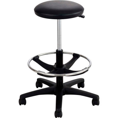 Safco® Extended-Height Lab Stool with Foot Ring - Black Vinyl
