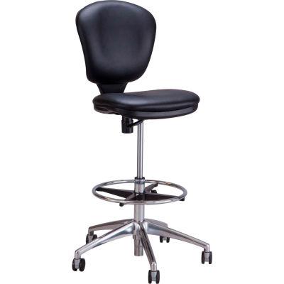 Safco® Metro™ Extended Height Chair - Black Vinyl