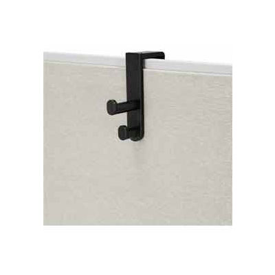 Over the Panel Double Hook (Qty 6) - Black