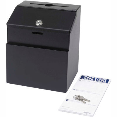 Safco® Products Steel Suggestion Box, Black