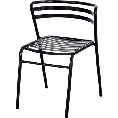 Safco® CoGo™ Indoor/Outdoor Steel Stacking Chair - Black - Pack of 2