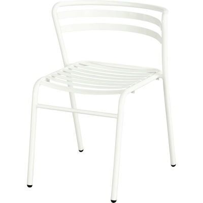 Safco® CoGo™ Indoor/Outdoor Steel Stacking Chair - White - Pack of 2