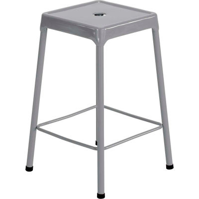 """Safco® Steel Stool 25"""" Counter Height - Silver"""