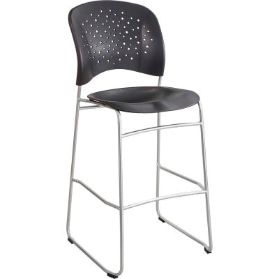 Safco® Reve™ Bistro Height Chair with Round Back - Black