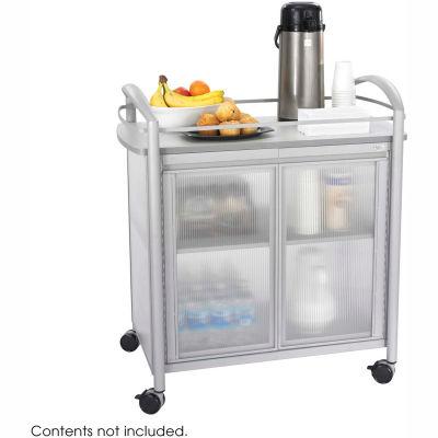 "Safco 8966 - Impromptu™ Refreshment Cart, Gray. 34""W x 21-1/4""D x 36-1/2""H"