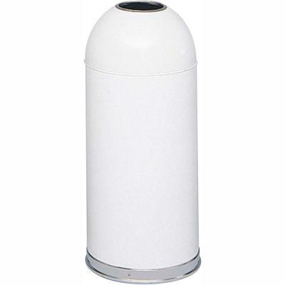 Safco® Open Top Dome Receptacles 15 Gallon White - 9639WH