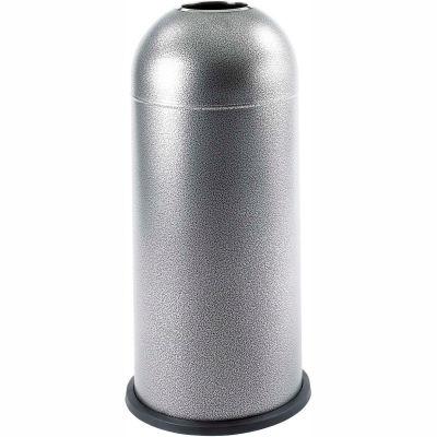 Safco® Black Speckle Open Top Dome Receptacle, 15 Gallon - 9676NC