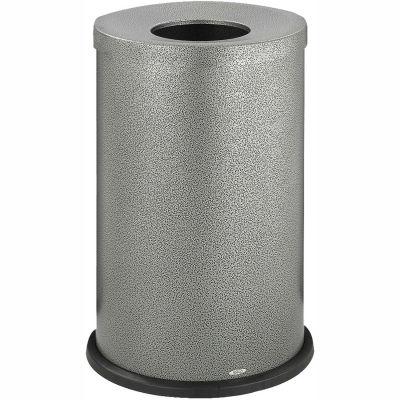 Safco® Black Speckle Open Top Receptacle, 35 Gallon - 9677NC