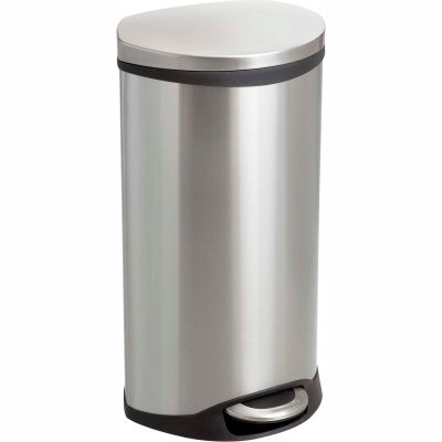 Safco® Step-On Receptacle, 7.5 Gallon SS - 9902SS