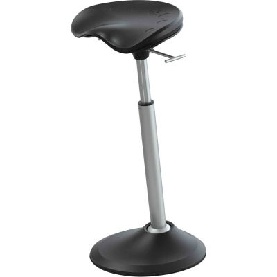 Safco® Mobis® II Active Sit-Stand Perching Stool - Black - Focal™ Series