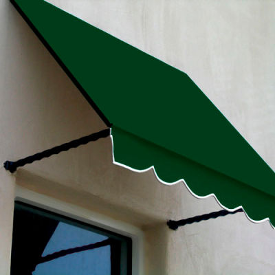 Awntech SANT22-8F, Window/Entry Awning 8-3/8'W x 2-9/16'H x 2'D Forest Green