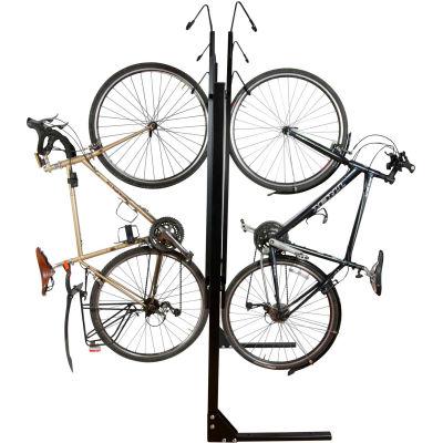 Bike Fixation 8033, Indoor 6 Bike Non-Lockable Double Sided Vertical Storage Rack