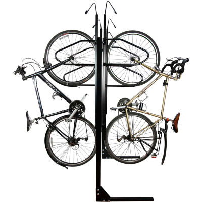 Bike Fixation 8063, Indoor 6 Bike Lockable Double Sided Vertical Storage Rack