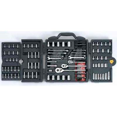 "Stanley 96-011 1/4"", 3/8"" & 1/2"" Drive 170 Piece Mechanic's Tool Set"
