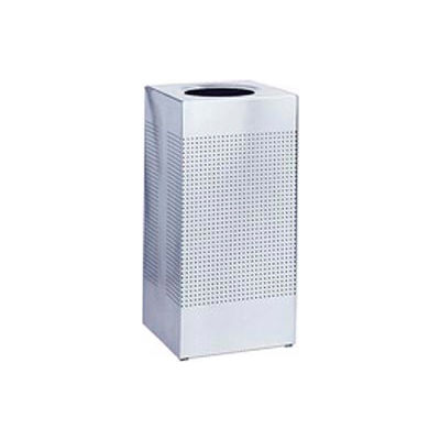 Rubbermaid® Silhouette Stainless Steel Square Trash Can W/Plastic Liner, 16 Gallon