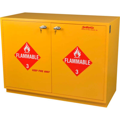 """28 Gallon, Under-the-Counter Flammable Cabinet, Self-Closing, 29""""W x 22""""D x 35-1/2""""H"""