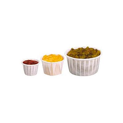Dart® SCC125U, Heavy Duty Pleated Souffle Cups, White, 5,000/Case
