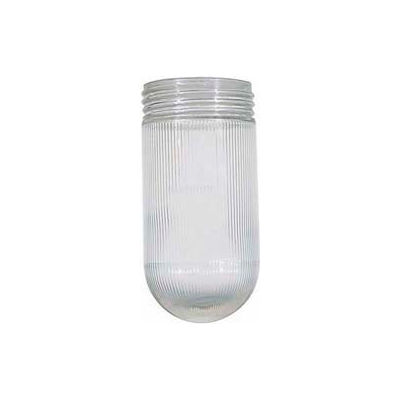 Satco 50-547 Clear Ribbed Glass