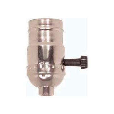 Satco 80-1008 3 Terminal (2 Circuit) Turn Knob Socket - Brite Gilt