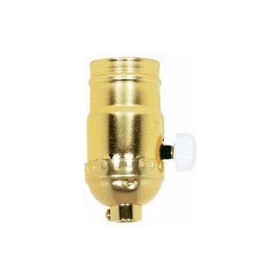 Satco 80-1014 150W Full Range Turn Knob Dimmer Socket - Brite Gilt