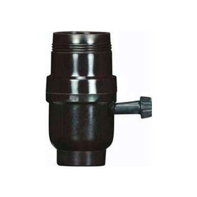 Satco 80-1107 Medium Base Socket-3 Terminal 2 Circuit Turn Knob 1/8 IP Cap w/Metal Bushing