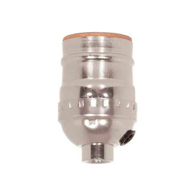 Satco 80-1373 Short Keyless Socket w/Side Outlet - Nickel