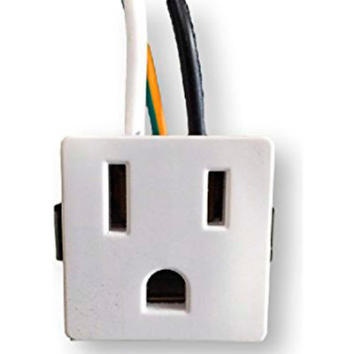 Satco 80-1408 4 Wire  2 Pole Snap-In Convenience Outlet