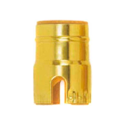 Satco 80-1467 Solid Brass Shell w/ Paper Liner  Push-Thru - Polished Brass