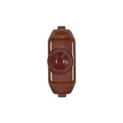 Satco 80-1481 Full Range Lamp Cord Rotary Dimmer Switch  Brown