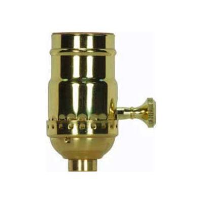 Satco 80-1738 3 Way (2 Circuit) 3pc. Turn Knob Socket w/Removable Knob - Dark Antique